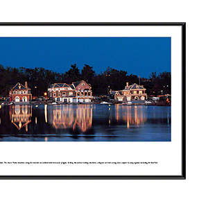 Boat House Row at night with standard frame