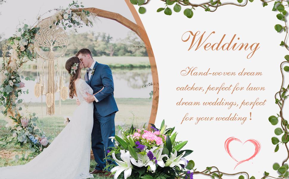 bohemian dream catcher for wedding