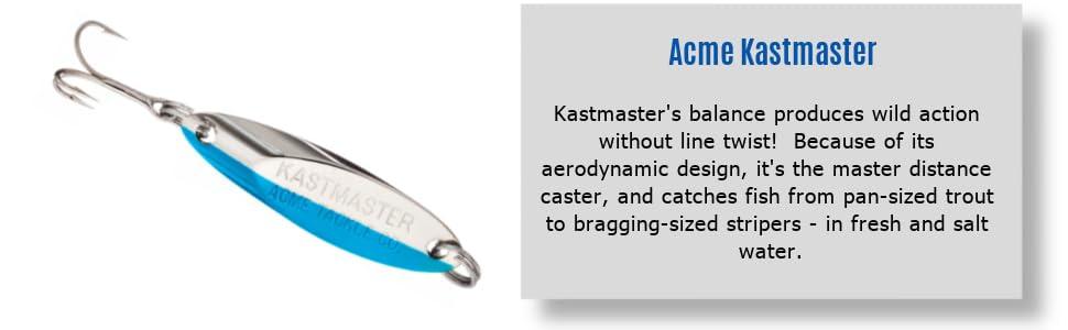 Acme Kastmaster Aerodynamic Design Light Spinning Lure Chrome 1//12 oz SW225//CH
