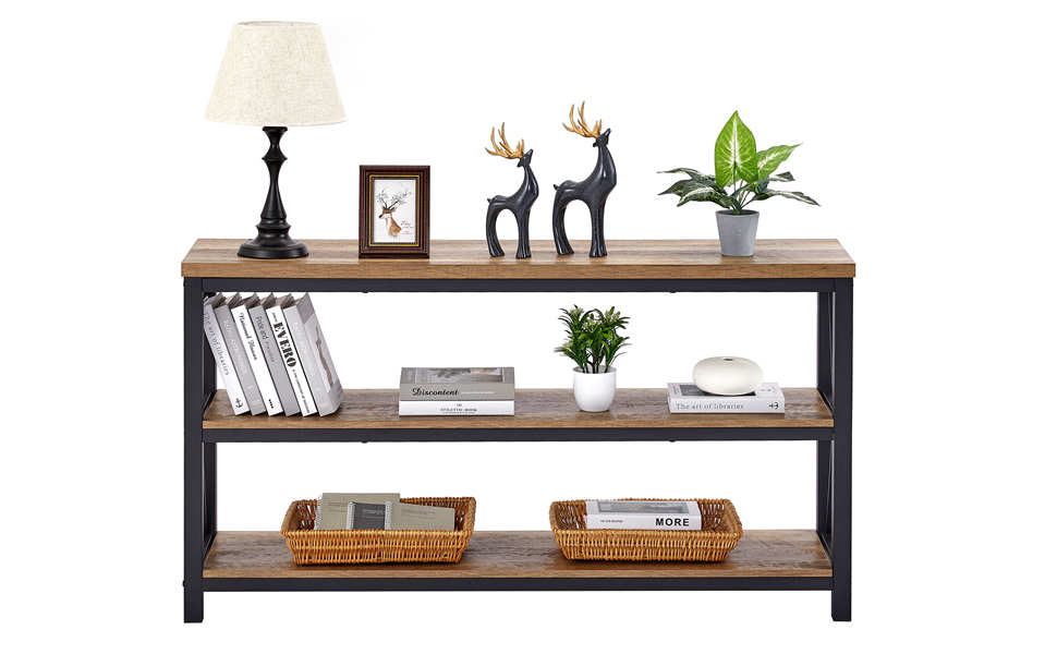 industrial rustic Console sofa table entryway table for hallway