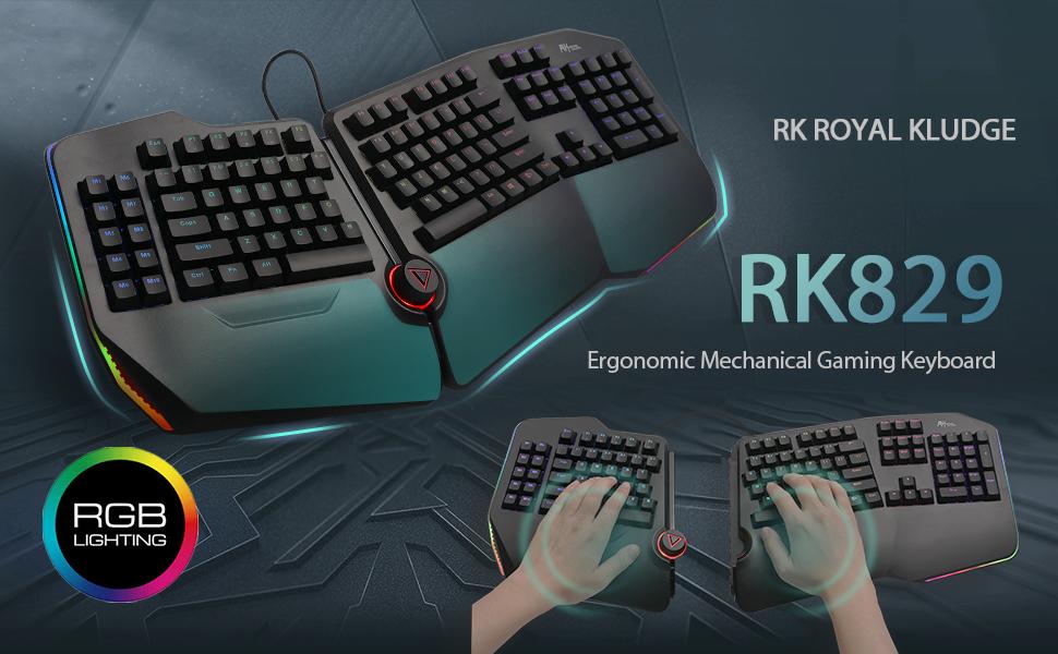 Split mechanical gaming keyboard