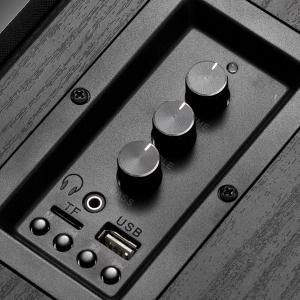 Frisby Audio FS-2000BT Powered Bookshelf Speaker System with Premium Controls for EQ