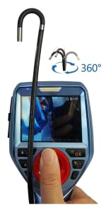 Vividia ME-610 Joystick-Controlled 360 Articulating Probe Borescope