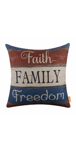 Linkwell 4th of July Pillow Cover 18x18