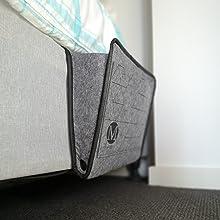In between Mattress Caddy Bedside Caddy Storage Organizer Bed Storage Organizer Hanging Pockets