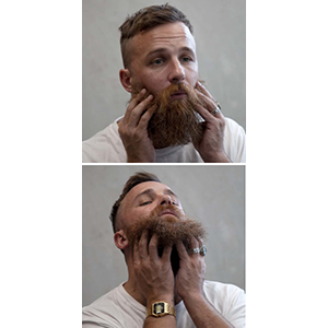 a perfectly groomed beard mustache for men christmas gift stocking stuffer for a guy stylish man