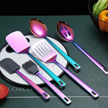 6 Piece Rainbow Kitchenware Utensils Set