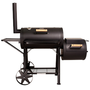 taino yuma 90 kg smoker holz-kohle-grillkamin räucher-box kammer schwarz massiv grillen smoken