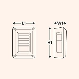 Line amp; Halo Design 60-LED Smoked Tail Light Size Drawing