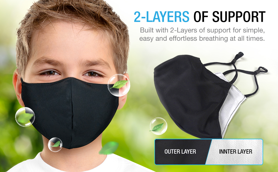 2 layer face mask maxboost