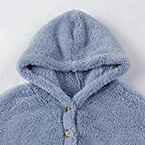 Sudadera con capucha para niños y niñas, de forro polar