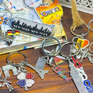 AC27 53mm x 28mm BULK 30 Silver Keychain With Dangle Key Chains Silver Tone