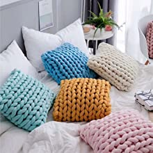 cozy knit pillows