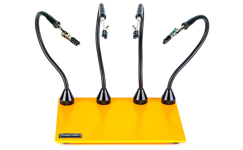 KOTTO Third Hand Soldering Tool PCB Holder Two Magnetic Based Flexible Metal Arms Helping Hands Crafts Jewelry Hobby Workshop Helping Station Non-Slip Steel Weighted Base