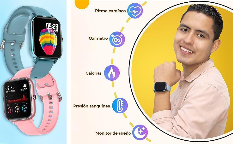 P8, BINDEN, Smartwatch, Smartwatchp8, Reloj inteligente, salud, presión sanguínea