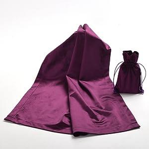 purple tarot tablecloth pouch
