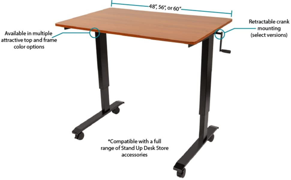 stand up desk store dimensions features sizes crank desk