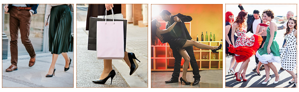 Wearing your beautiful shoes,Makryn heel grip helps you be easily in all kinds of situations