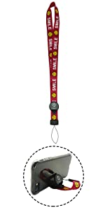 ONES - 2in1の ストラップ & スタンド - 携帯 ネックストラップ - 赤 · スマイルシリーズ