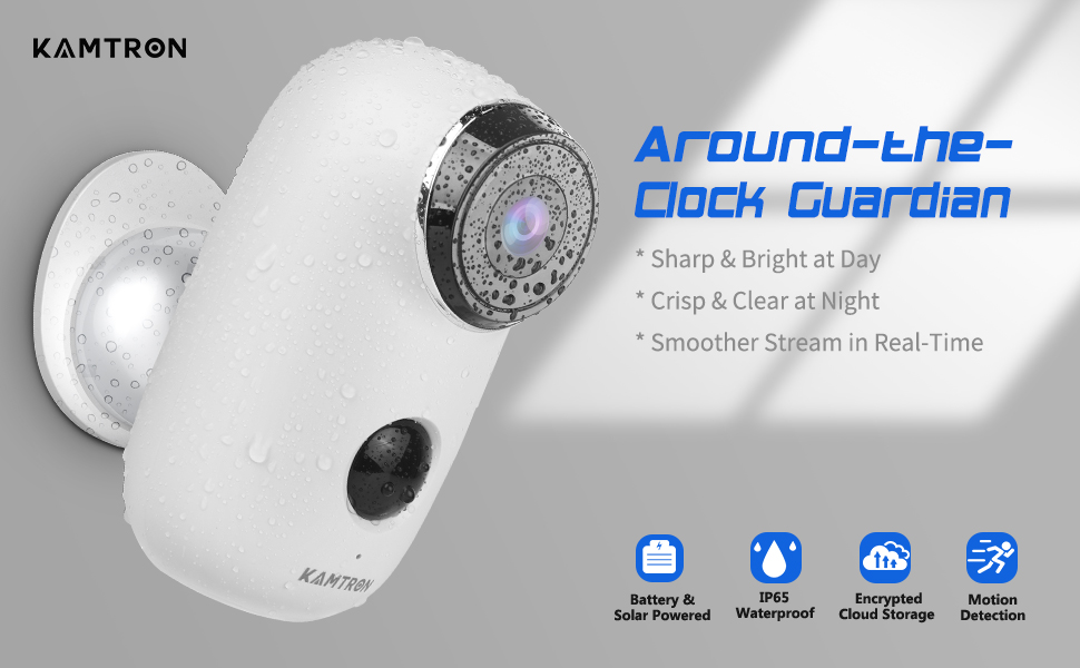 Flashandfocus.com a689fa3c-0d6b-488a-8907-7af1350dc60c.__CR0,0,970,600_PT0_SX970_V1___ Wireless Outdoor Security Camera, KAMTRON 1080P Home Security Rechargeable Battery Powered Camera 2.4G WiFi with Night…