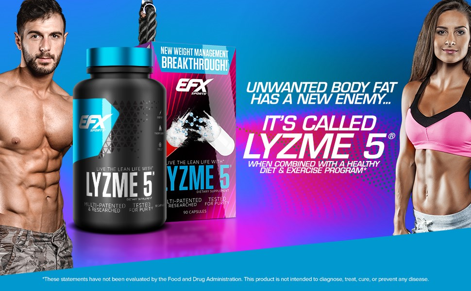 Body fat has a new enemy Lyzme 5 by EFX Sports