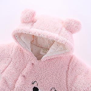 Cute bear hooded romper