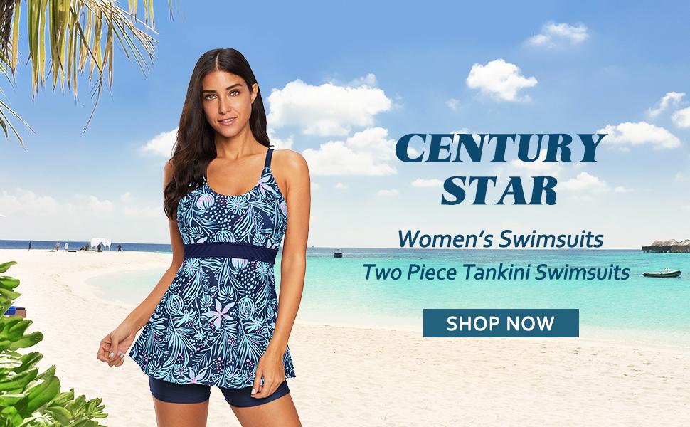 Century Star Women's Two Piece Tankini Swimsuits