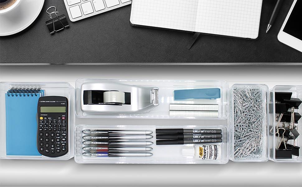 clear drawer organizer bins