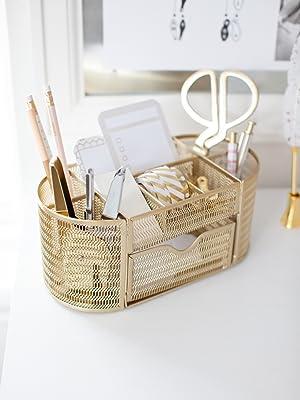 Gold Desktop Organizer