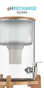 Invigorated Water PH RECHARGE GLASS UPC 850006539253  Glass Alkaline Water Pitcher countertop filter