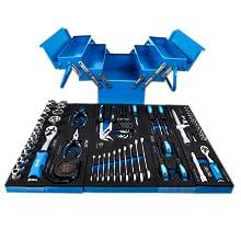 Klap gereedschapskist blauw schuim inlegger