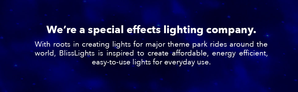 We're a special effects lighting company