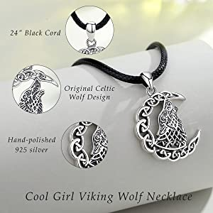 Wolf Necklace for Man Women