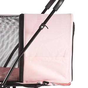 Folding Dog Stroller Travel Cage Stroller for Pet Cat