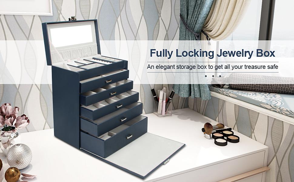 fully locking jewelry box