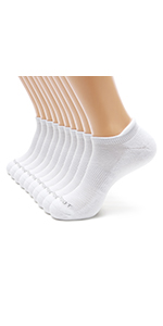 M MONFOOT 5//10 Pairs Athletic Running Cushioned Silky Dry Heel Tab Ankle Socks for Men and Women