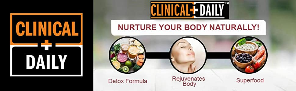 Clinical Daily Logo above the benefits of Regular Cleanse supplements