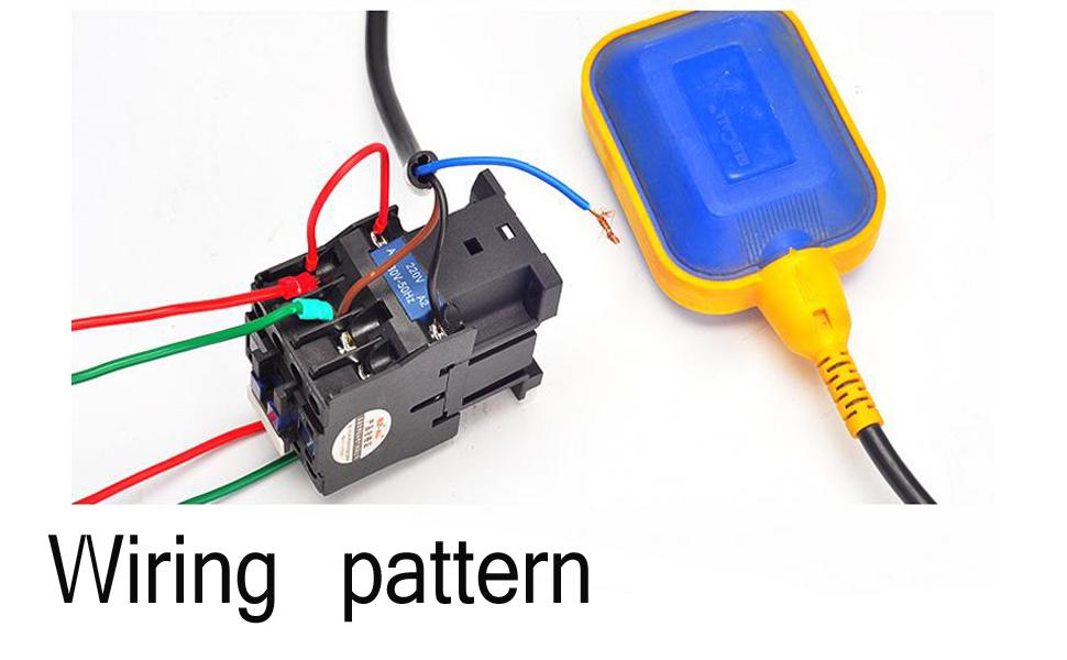 Cable de Silicona de 2 Metros IP65 Controlador Autom/ático de Nivel de Agua con Interruptor de Flotador con Sensor de Detecci/ón