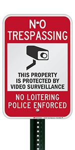 No Trespassing Video Surveillance