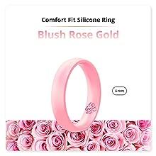 blush rose gold silicone ring