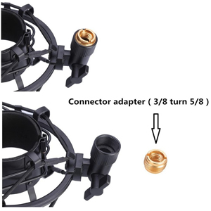Replacement Rubber Band Universal Connector Adapter for 46-53 mm Microphone 7 Pieces Microphone Holder Set Include Shock Mount with Pop Filter Mic Anti-Vibration Suspension Shock Mount Holder Clip