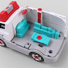 Pinzhi Rettungsfahrzeug Spielzeug Spielset f/ür Kinder Ambulanz