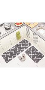 Moroccan kitchen bathroom kitchen throw rug set