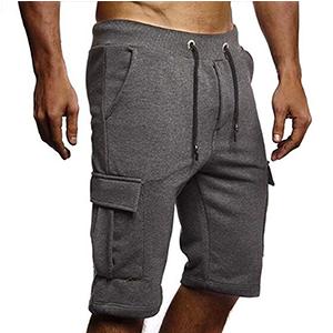 Elastic Drawstring Loose Fit Sweat Shorts Uni Clau Men Cargo Shorts with Pocket