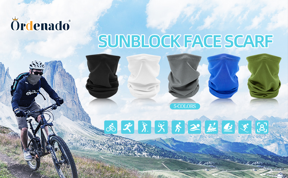 Bike Balaclava Bandana Cover Cycling Scarf Neck Snood Sports Biker Gaiter hallo