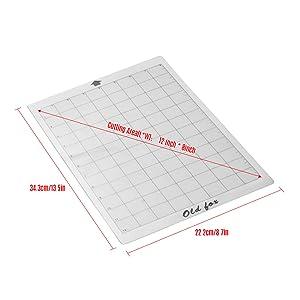 Aibecy ALTE FOX - Alfombrilla de corte transparente con rejilla de medición de 8 de 12 pulgadas para Silhouette Cameo Cricut Explore Plotter Machine, 3 piezas: Amazon.es: Oficina y papelería