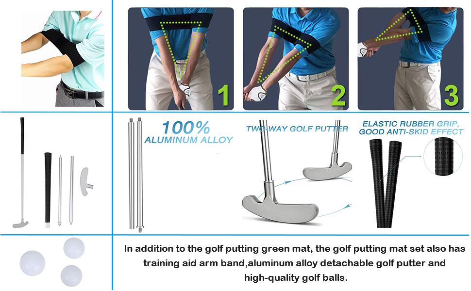 Indoor Golf Putting Practice Mat