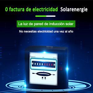 Foco Solar Potente con Sensor