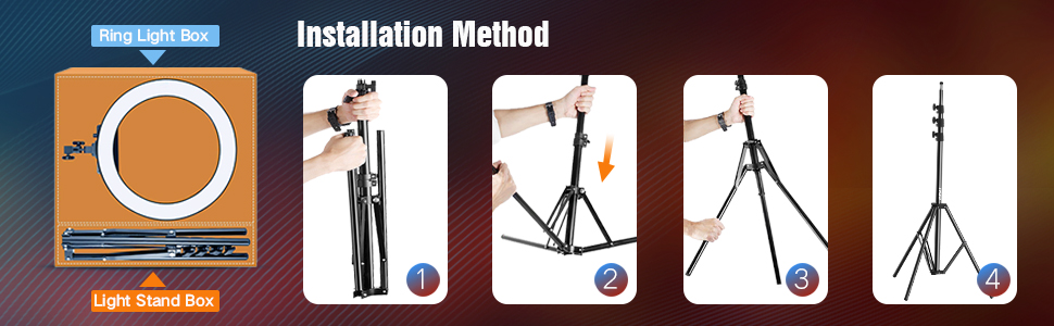 ring light with stand 18 inch ring light led video photo shoot tripod 10 9 feet