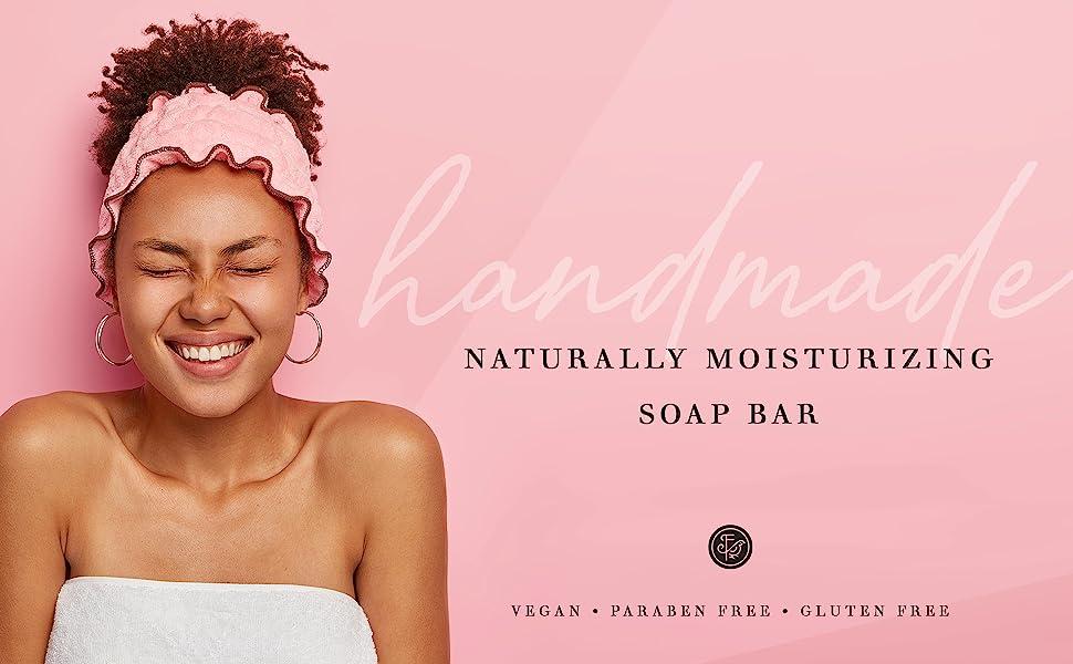 handmade naturally moisturizing soap bar
